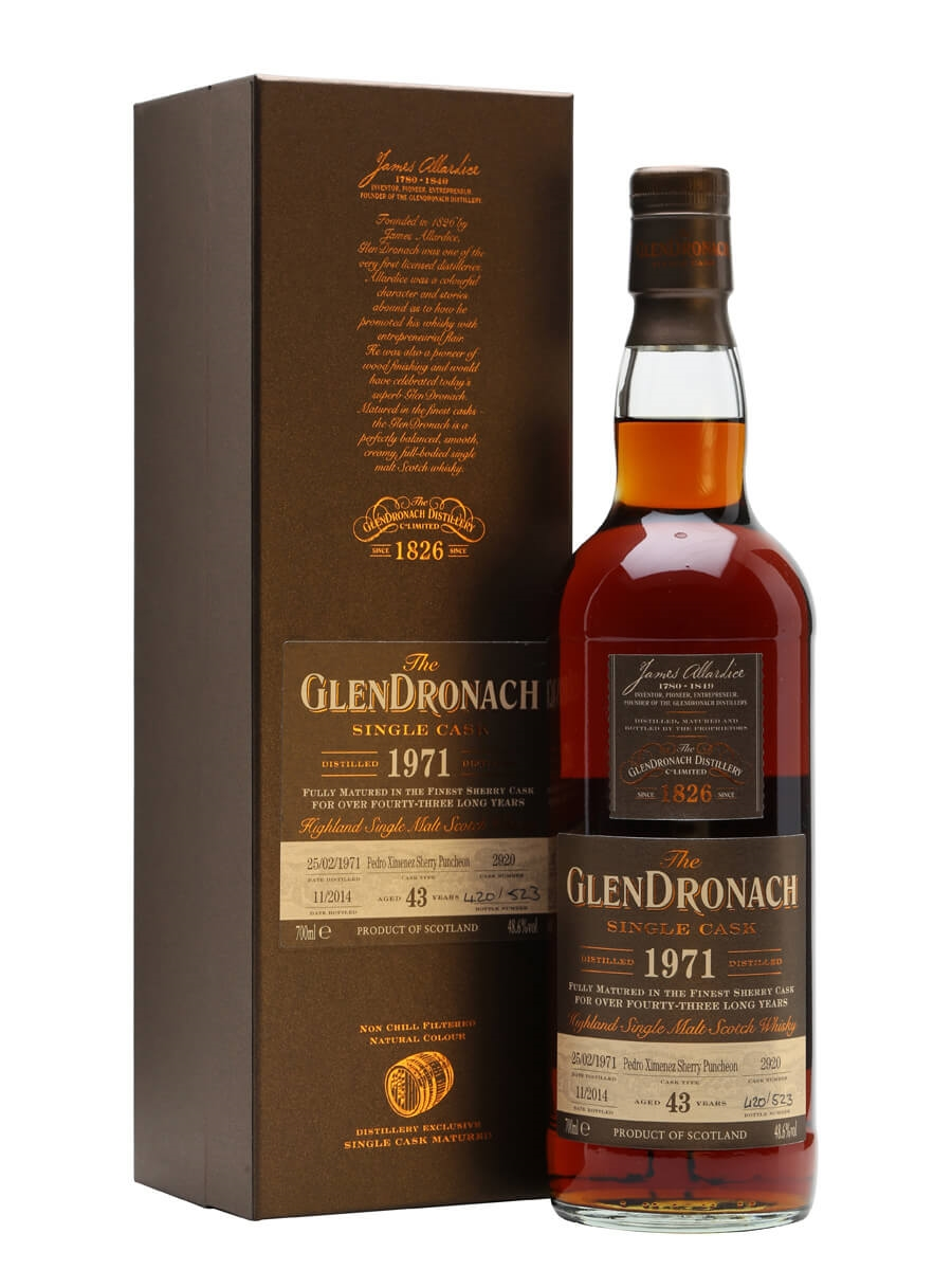 Glendronach 1971 / 43 Year Old / Sherry PX Puncheon #2920