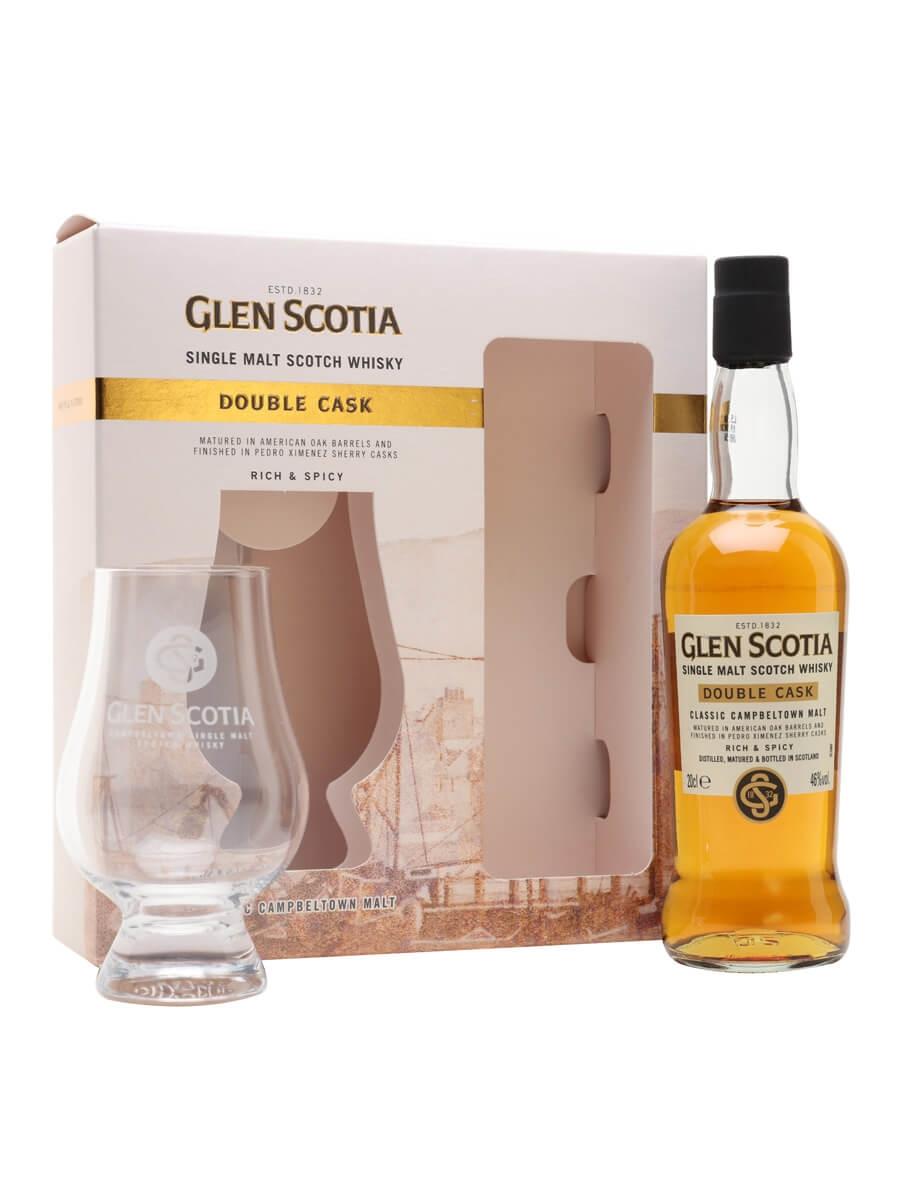 Glen Scotia Double Cask / Small Bottle / Glass Set