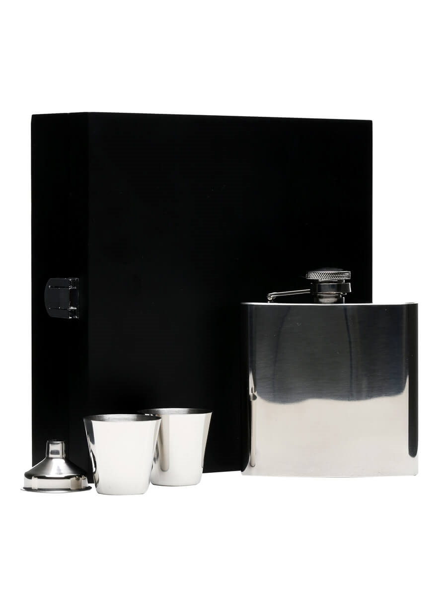 High Polished Stainless Steel Hip Flask /Funnel & 2 Cups