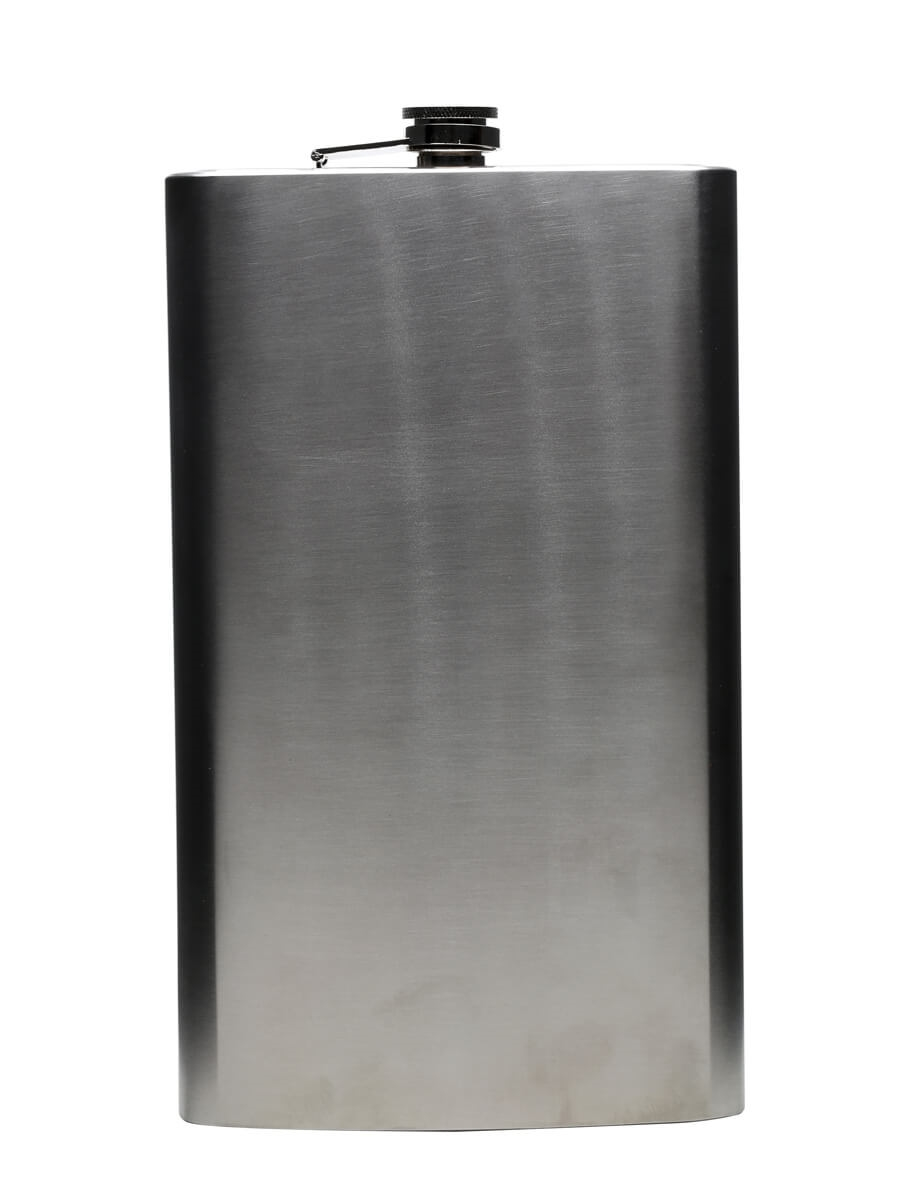 Large High Polished Stainless Steel Hip Flask / 180cl
