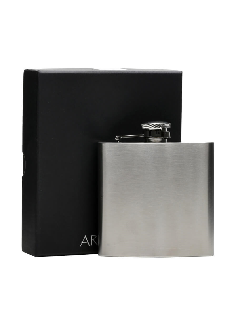 Brushed Stainless Steel Hip Flask / Satin Finish / 170ml