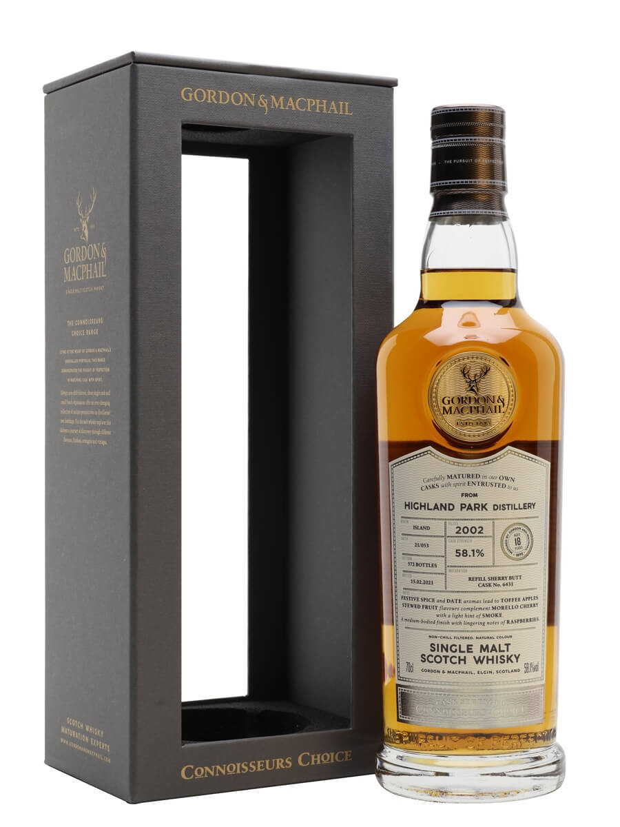 Highland Park 2002 / 18 Year Old / Sherry Cask / Connoisseurs Choice
