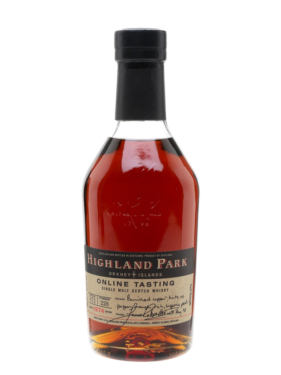 Highland Park 1974 / Bot.1998 / Online Tasting