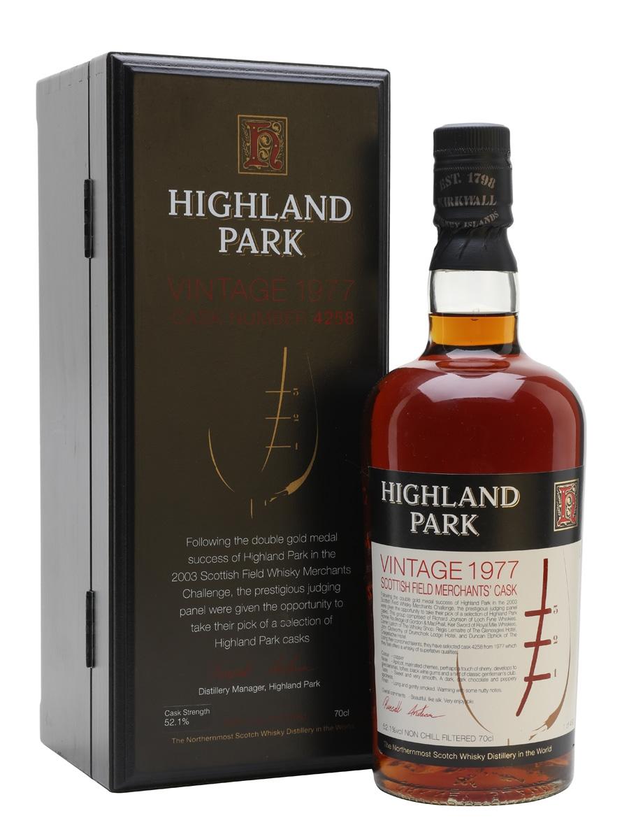 Highland Park 1977 / Sherry Cask / Scottish Field Merchant's