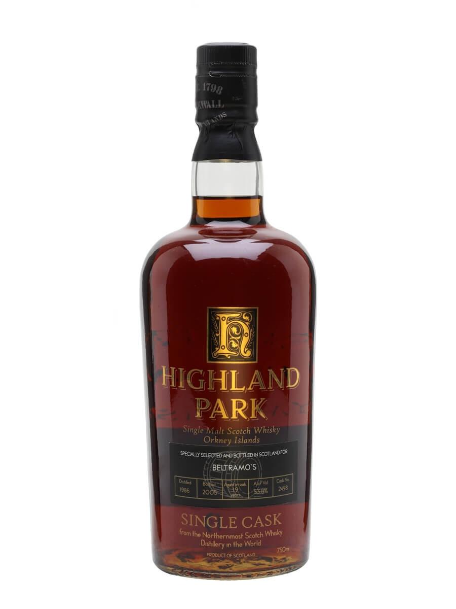 Highland Park 1986 / Bot.2005 / Cask 2498 / For Beltramo's