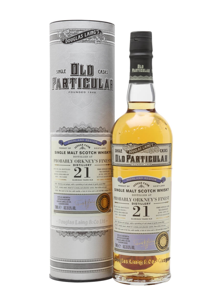 Orkney's Finest 1999 / 21 Year Old/ Old Particular