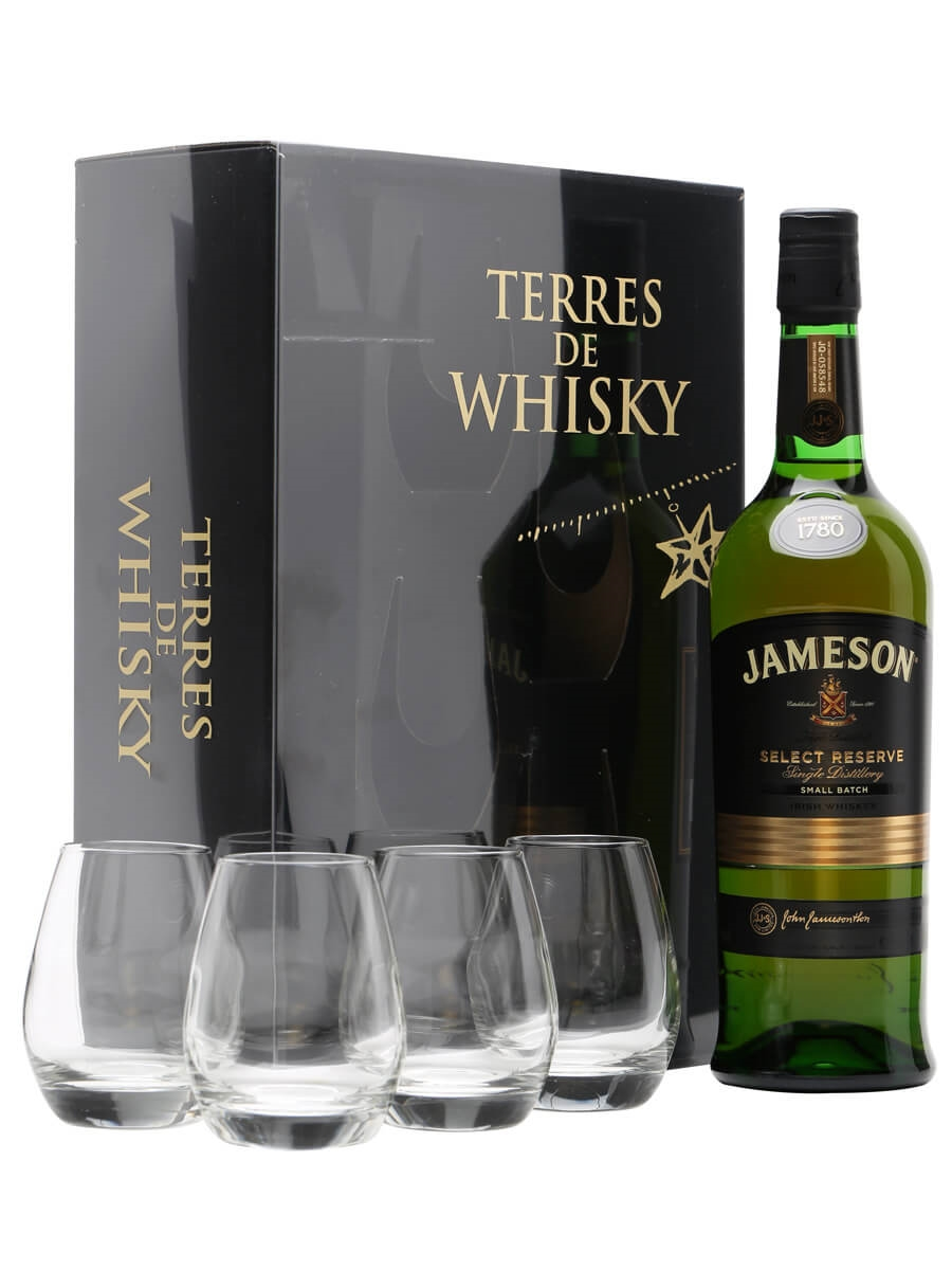Jameson Select Reserve + 4 Glasses Gift Pack