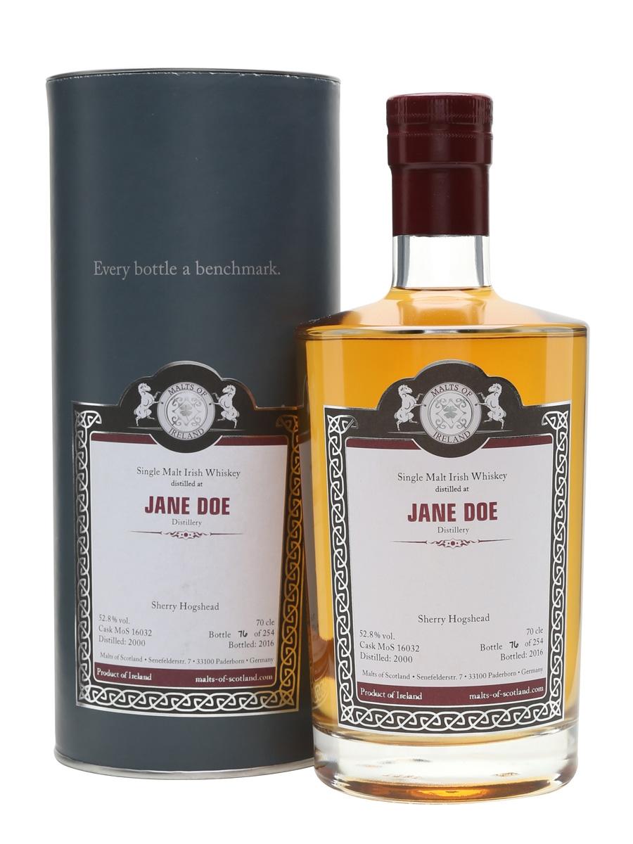 Jane Doe 2000 / Bot.2016 / Sherry Cask / Malts of Scotland