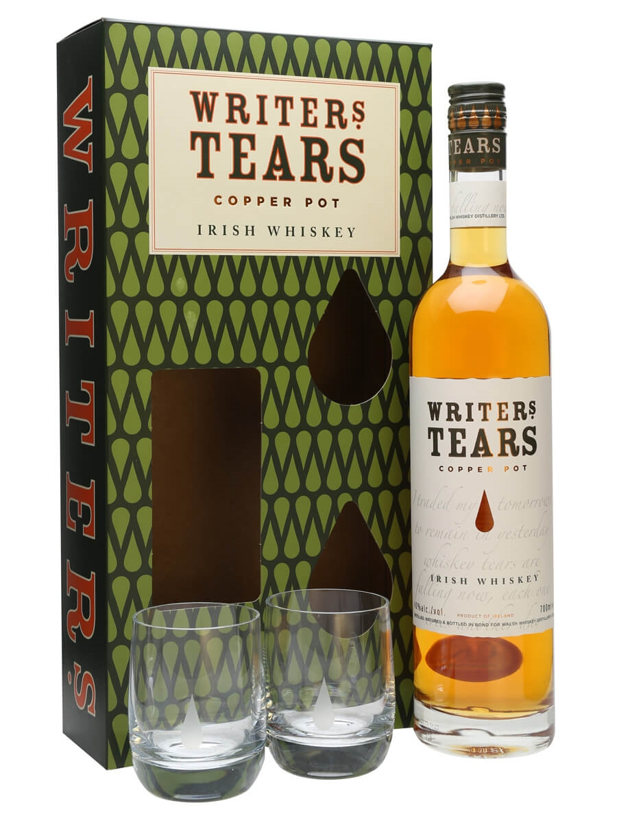 Writers Tears Copper Pot & 2 Glasses Gift Pack