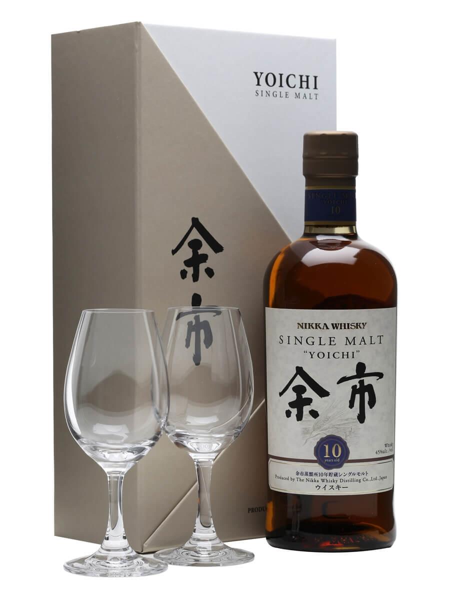 Nikka Yoichi 10 Year Old + 2 Glasses / Gift Pack