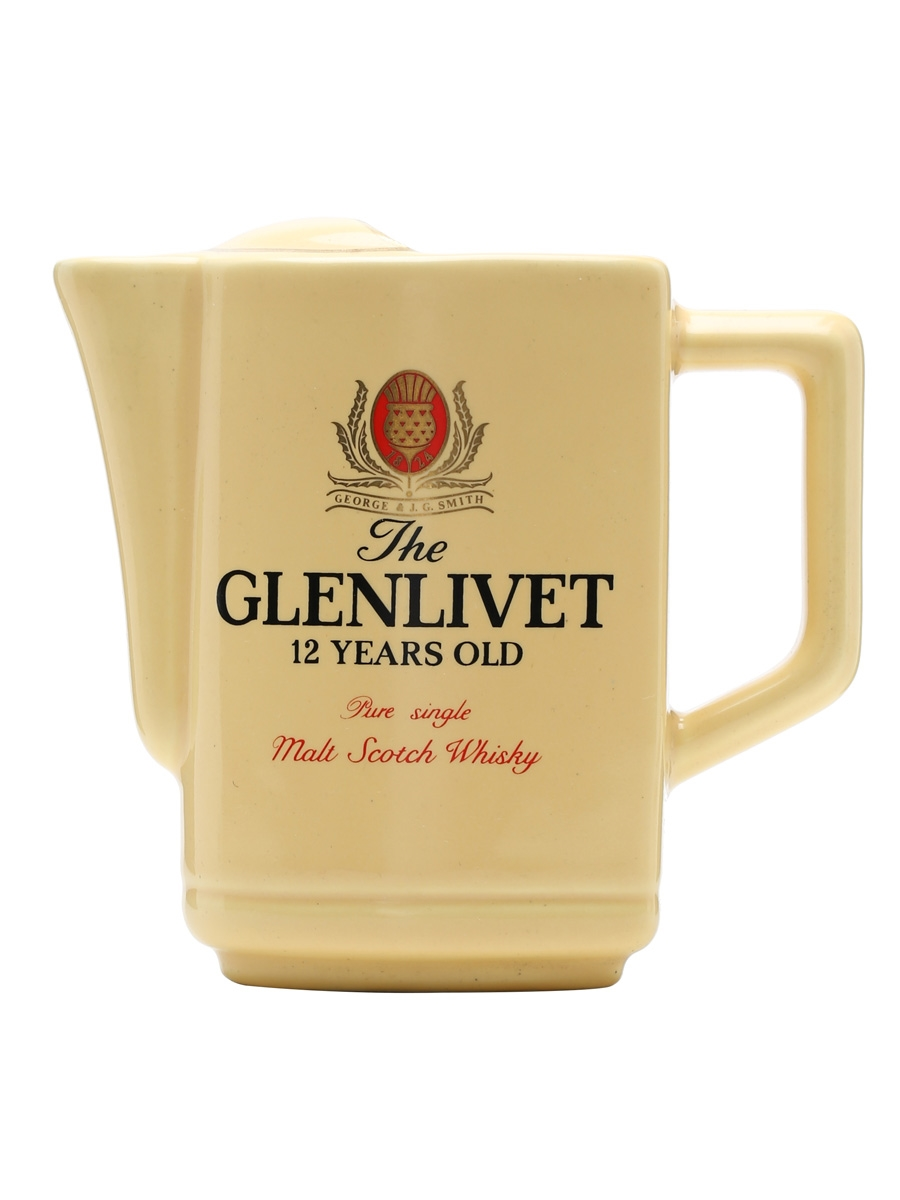Glenlivet 12 Year Old / Yellow / Oval Shape / Small Water Jug