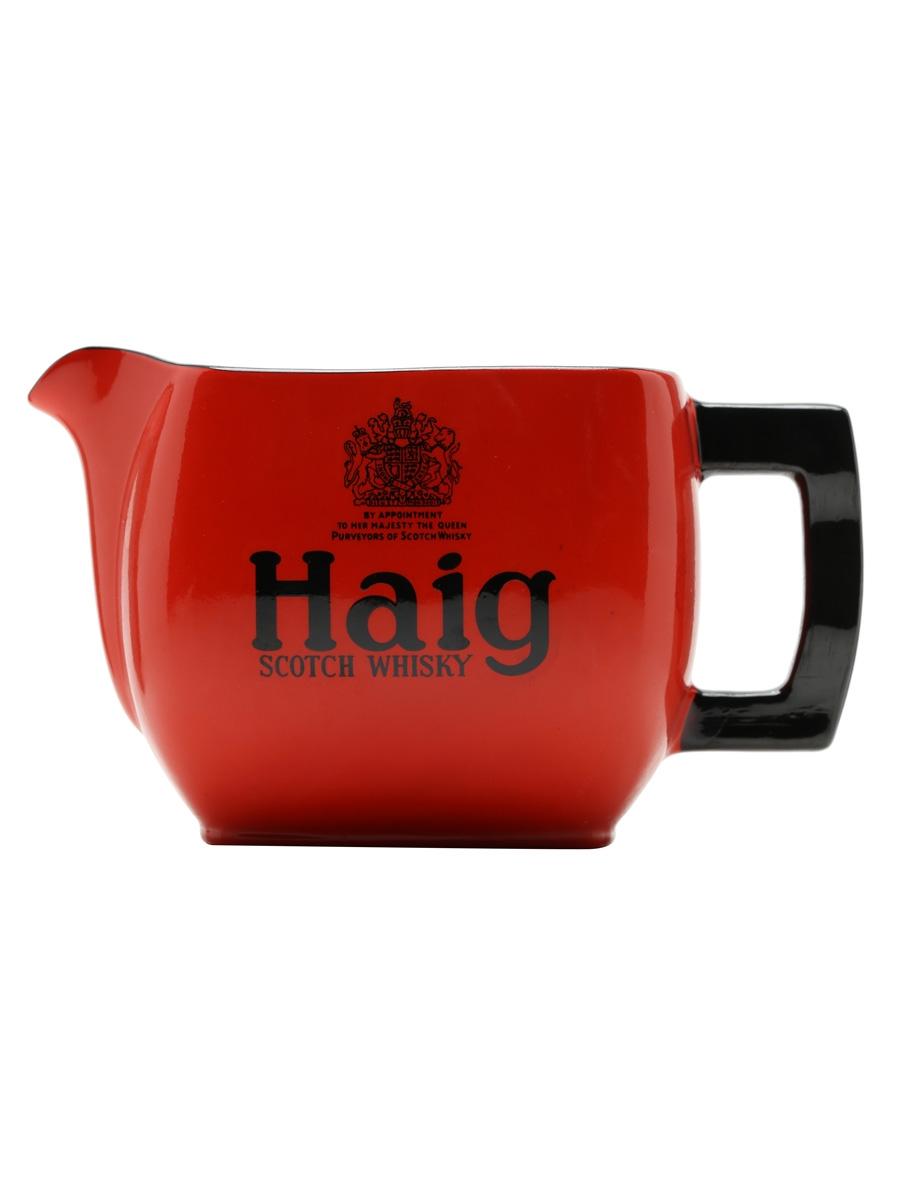 Haig / Red / Small Water Jug / Carlton Ware