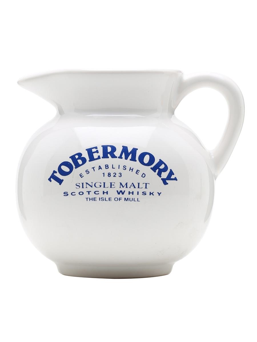 Tobermory / White / Blue Writing /  Small Jug