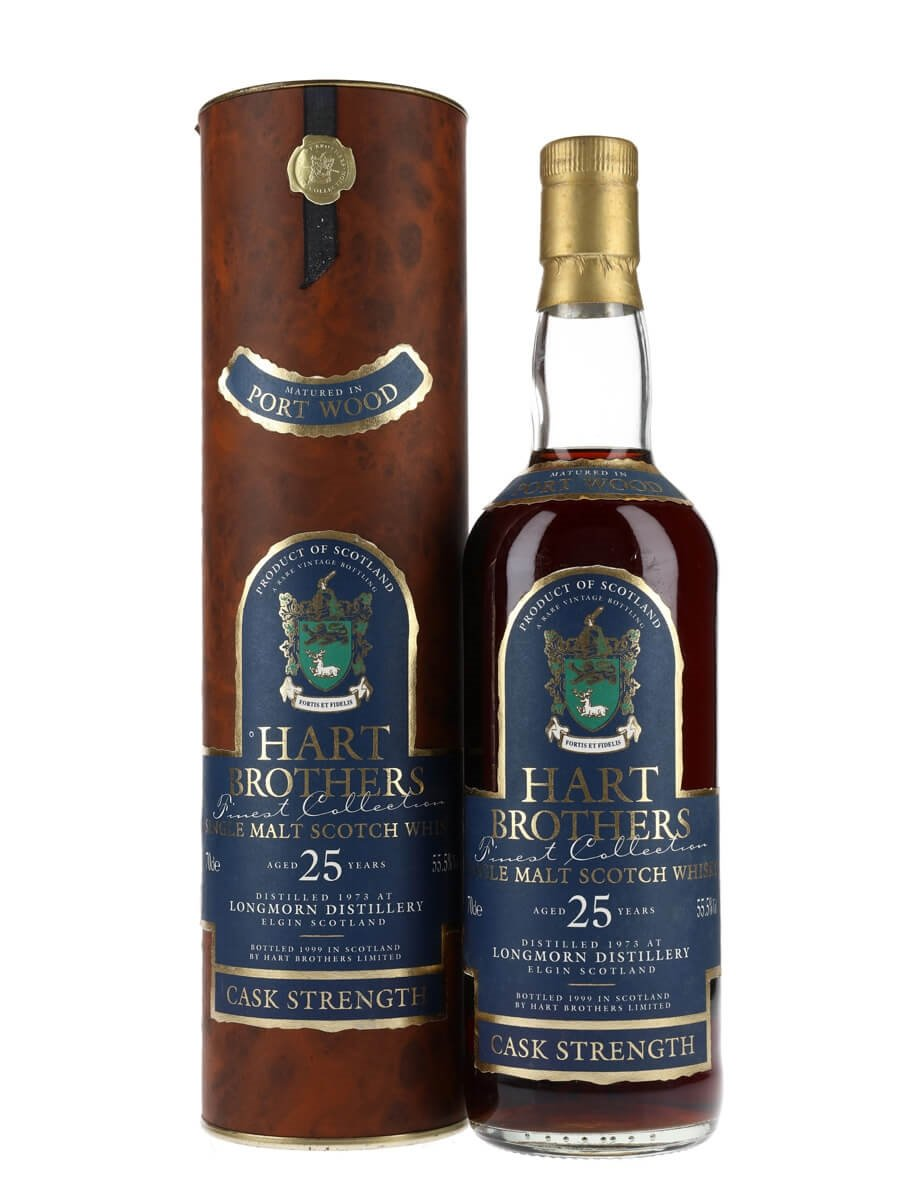 Longmorn 1973 / 25 Year Old / Port Wood / Hart Brothers