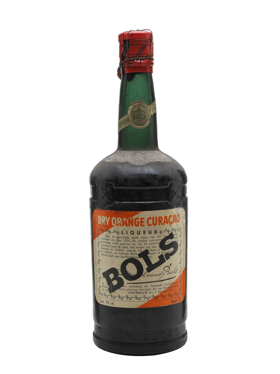 Bols Dry Orange Curacao / Bot.1950s