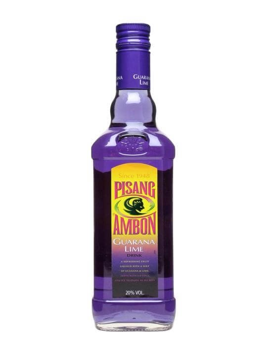 Pisang Ambon Guarana Lime Liqueur The Whisky Exchange