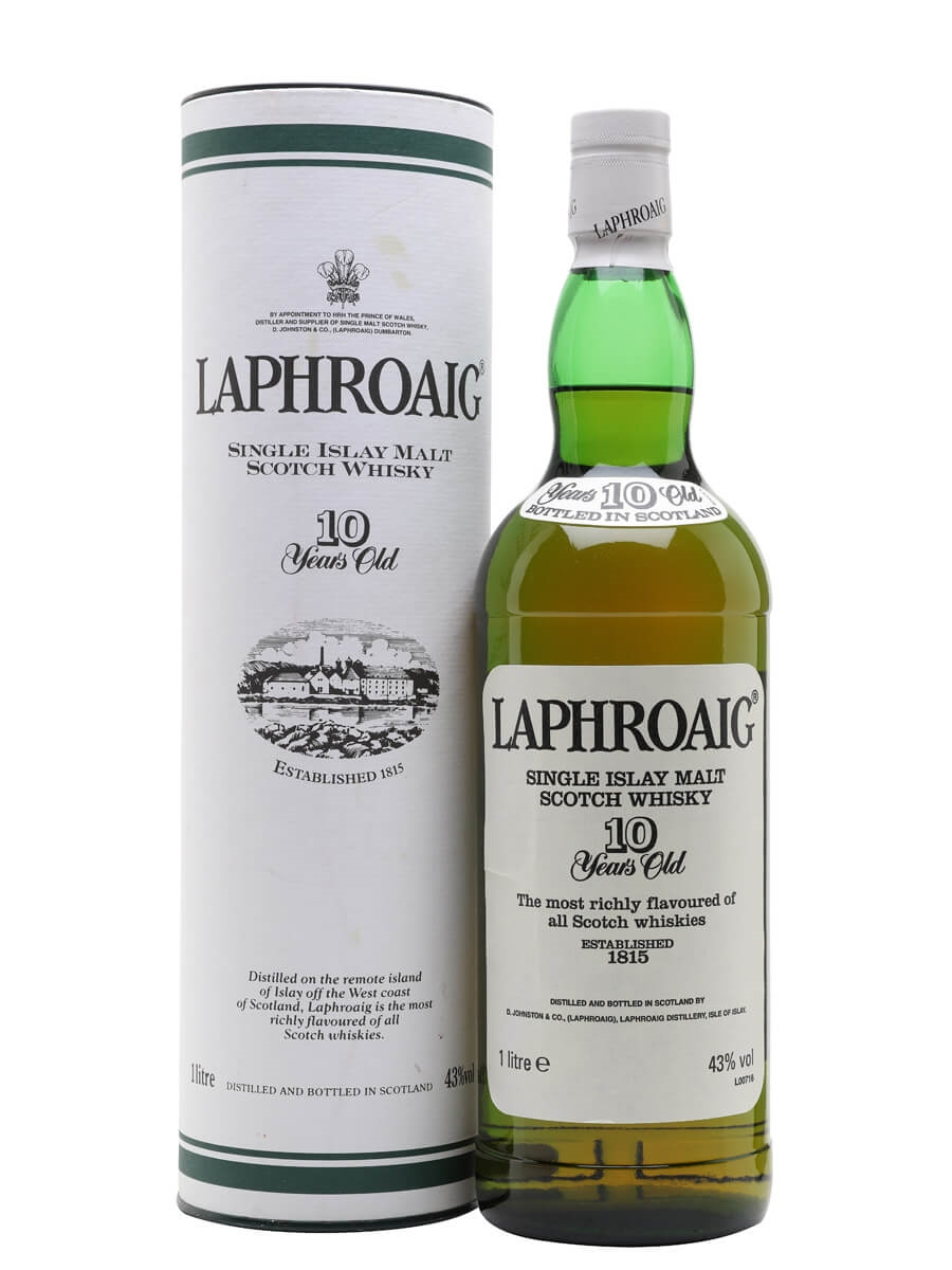 Laphroaig 10 Year Old / Bot.1990s / Litre