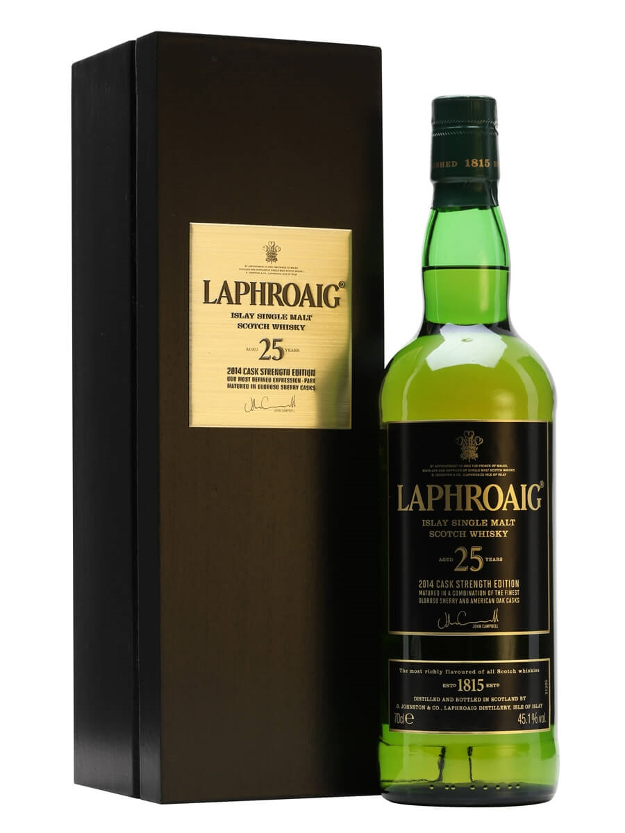 Image result for laphroaig 25 years bottled 2014