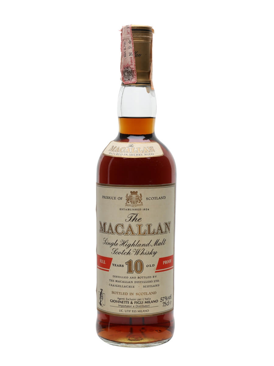 Macallan 10 Year Old / Full Proof / Bot.1980s