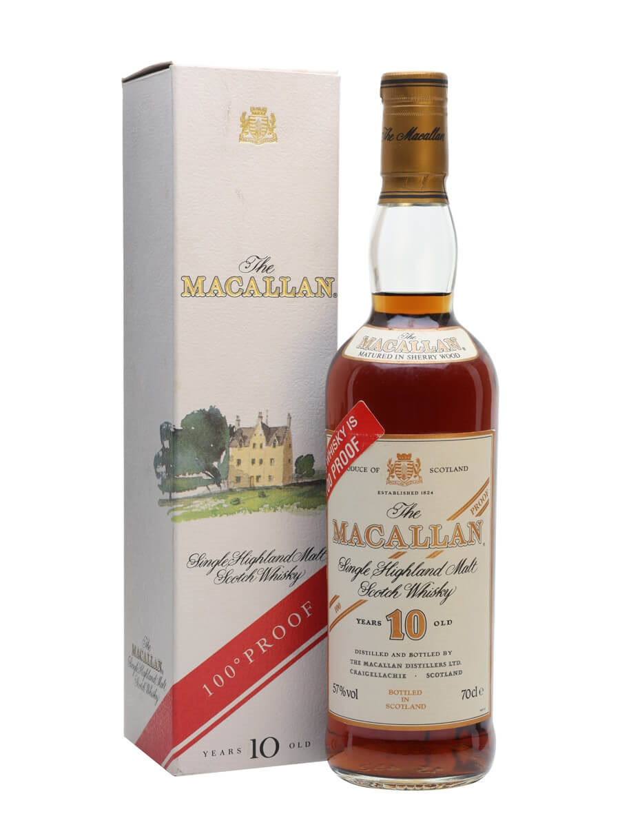 Macallan 10 Year Old / 100 Proof / Bot.1990s