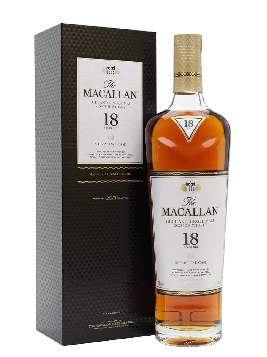 Macallan 18 Year Old / Sherry Oak / 2021 Release
