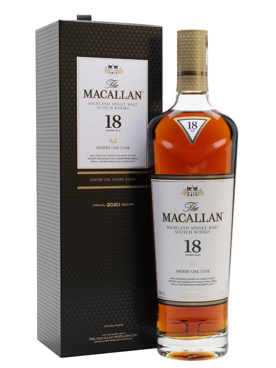 Macallan 18 Year Old / Sherry Oak / 2020 Release