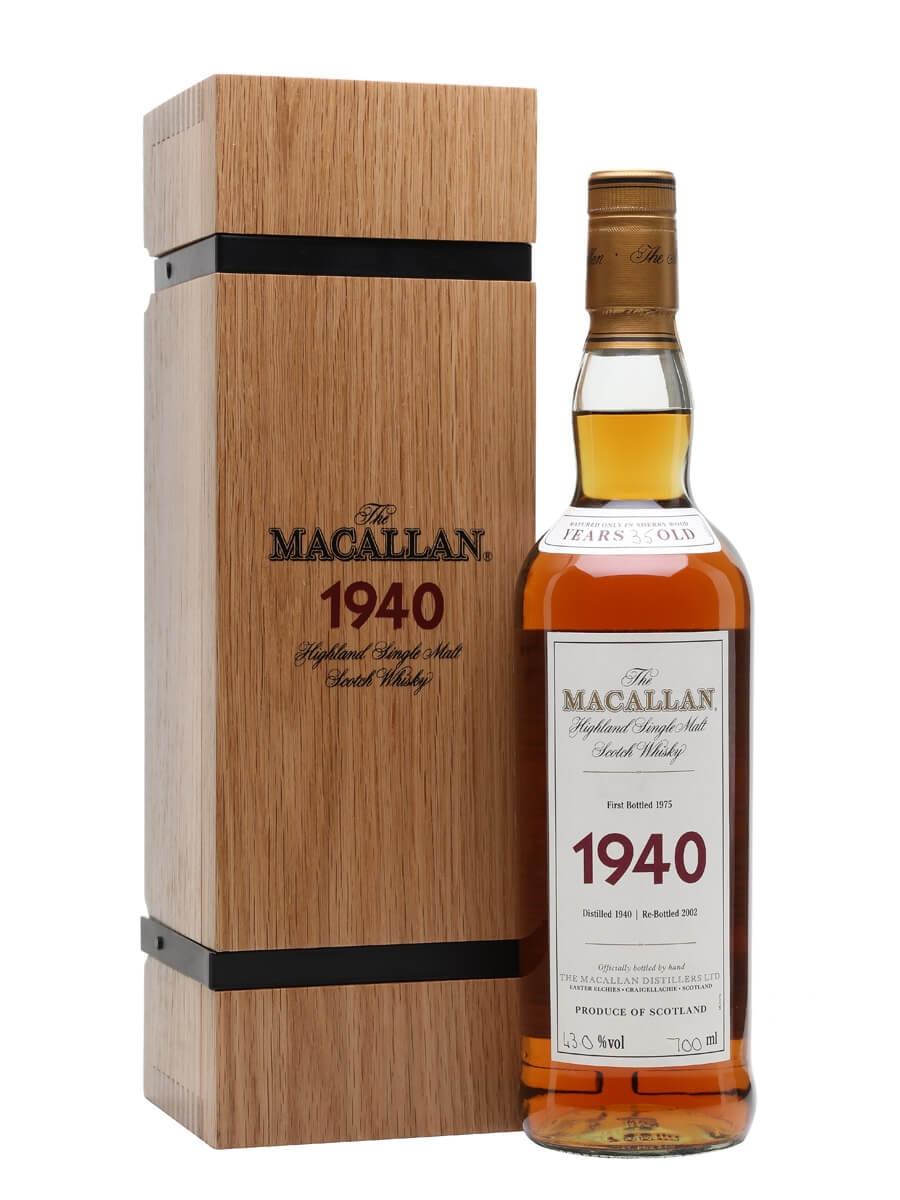 Macallan 1940 / 35 Year Old / Fine & Rare