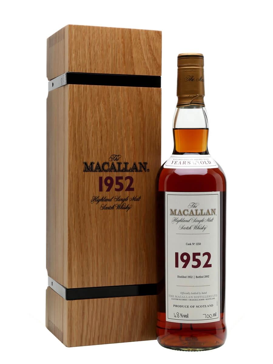 Macallan 1952 / 49 Year Old / Fine & Rare #1250