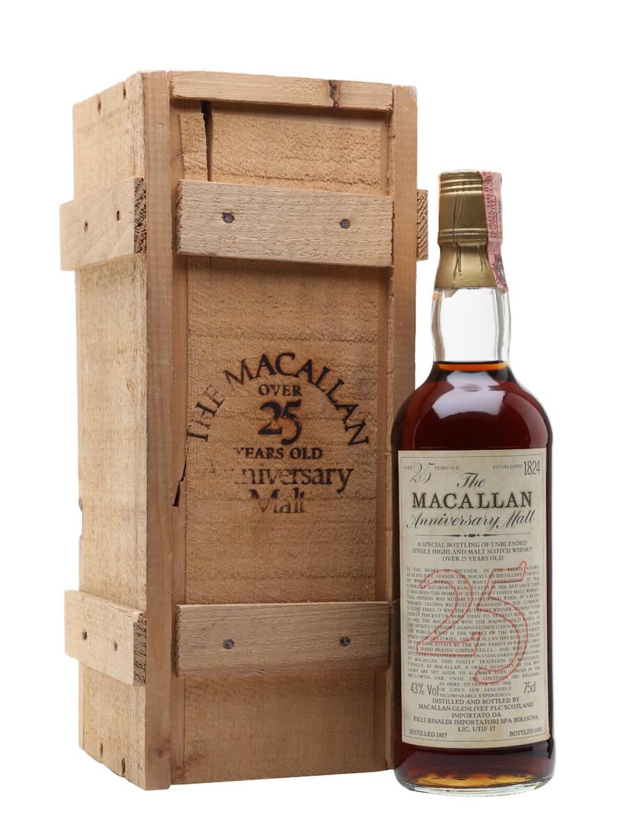 Macallan 1957 / 25 Year Old / Anniversary Malt