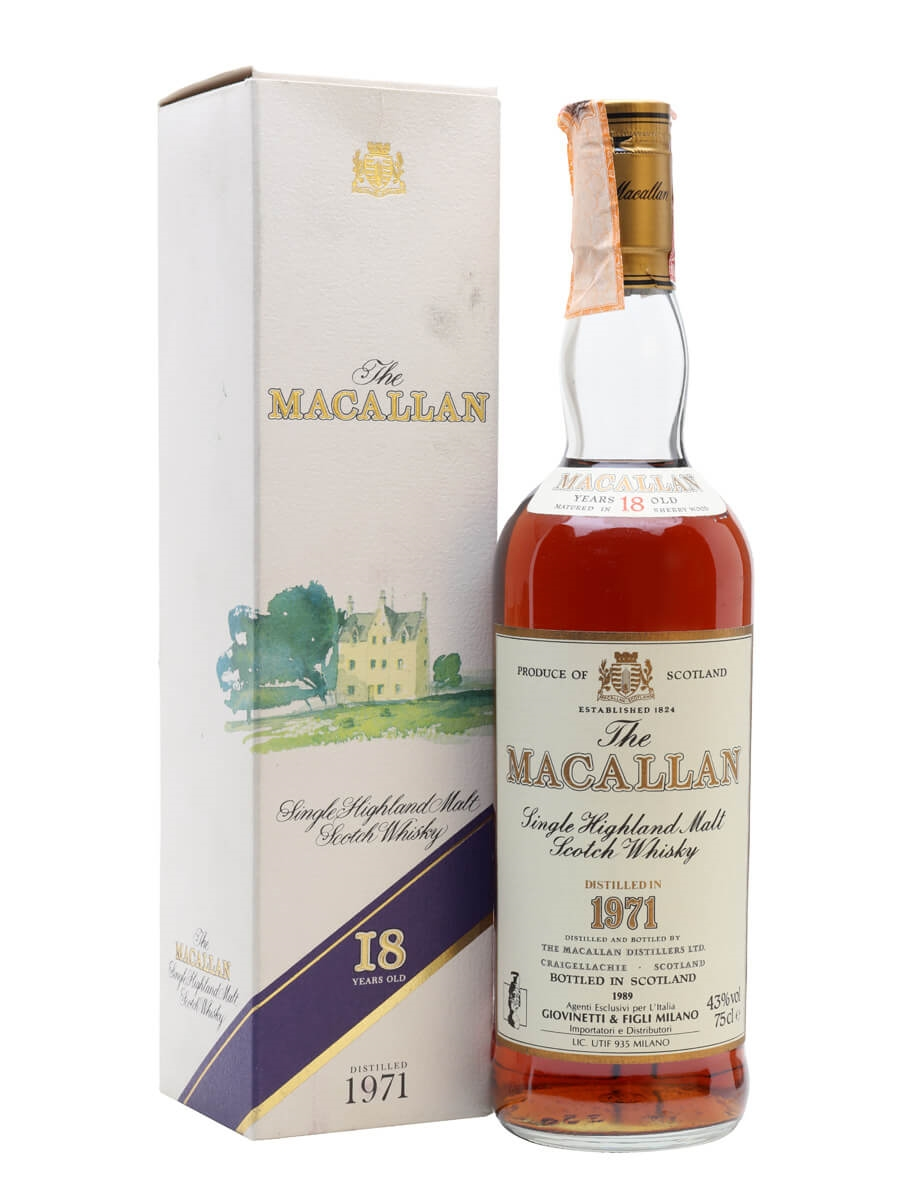 Macallan 1971 / 18 Year Old / Vintage Label