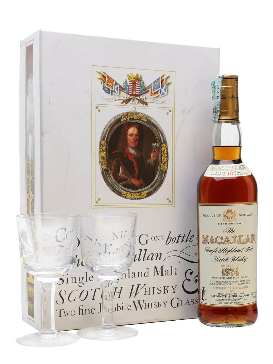 Macallan 1974 / 18 Year Old + 2 Glasses Pack