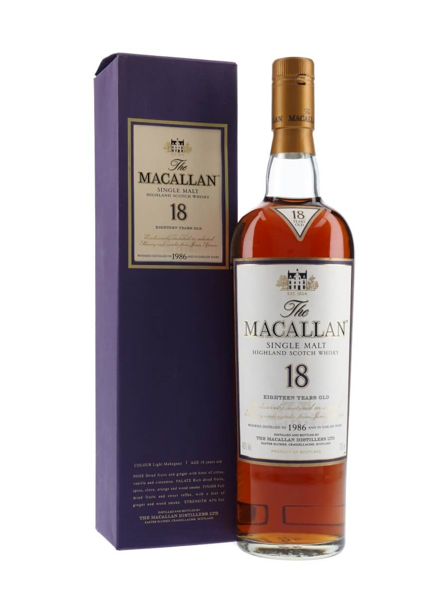 Macallan 1986 / 18 Year Old / Sherry Oak