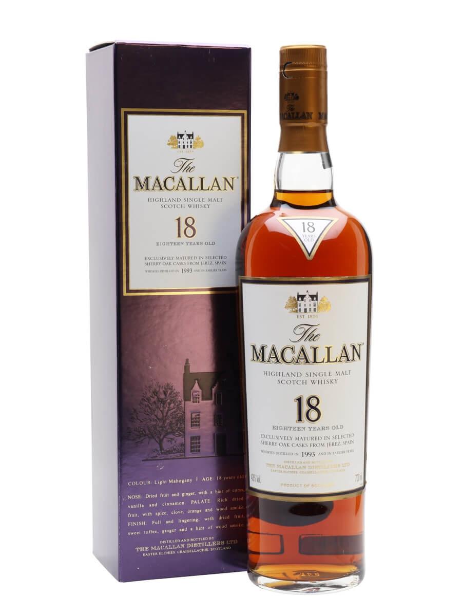 Macallan 1993 / 18 Year Old / Sherry Oak