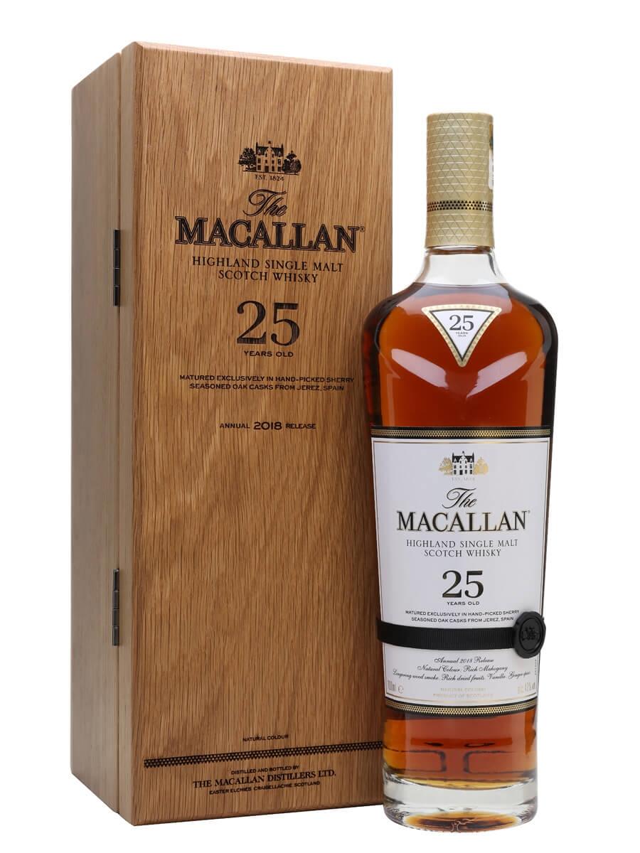 Macallan 25 Year Old / Sherry Oak / 2018 Release