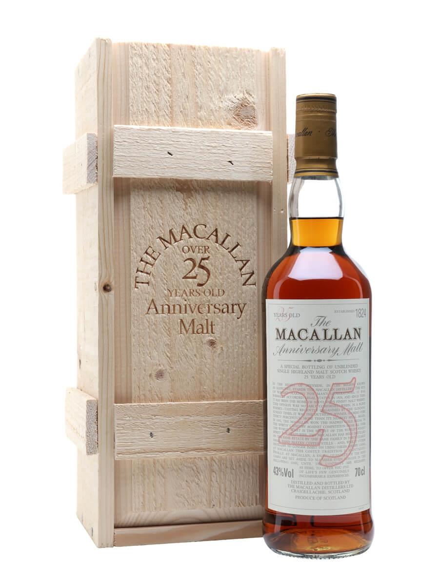 Macallan 25 Year Old / Sherry Oak / Anniversary Malt / Bot.1990s