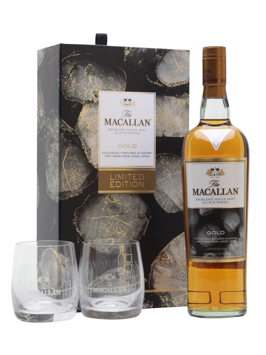 Macallan Gold + 2 Glasses Gift Set