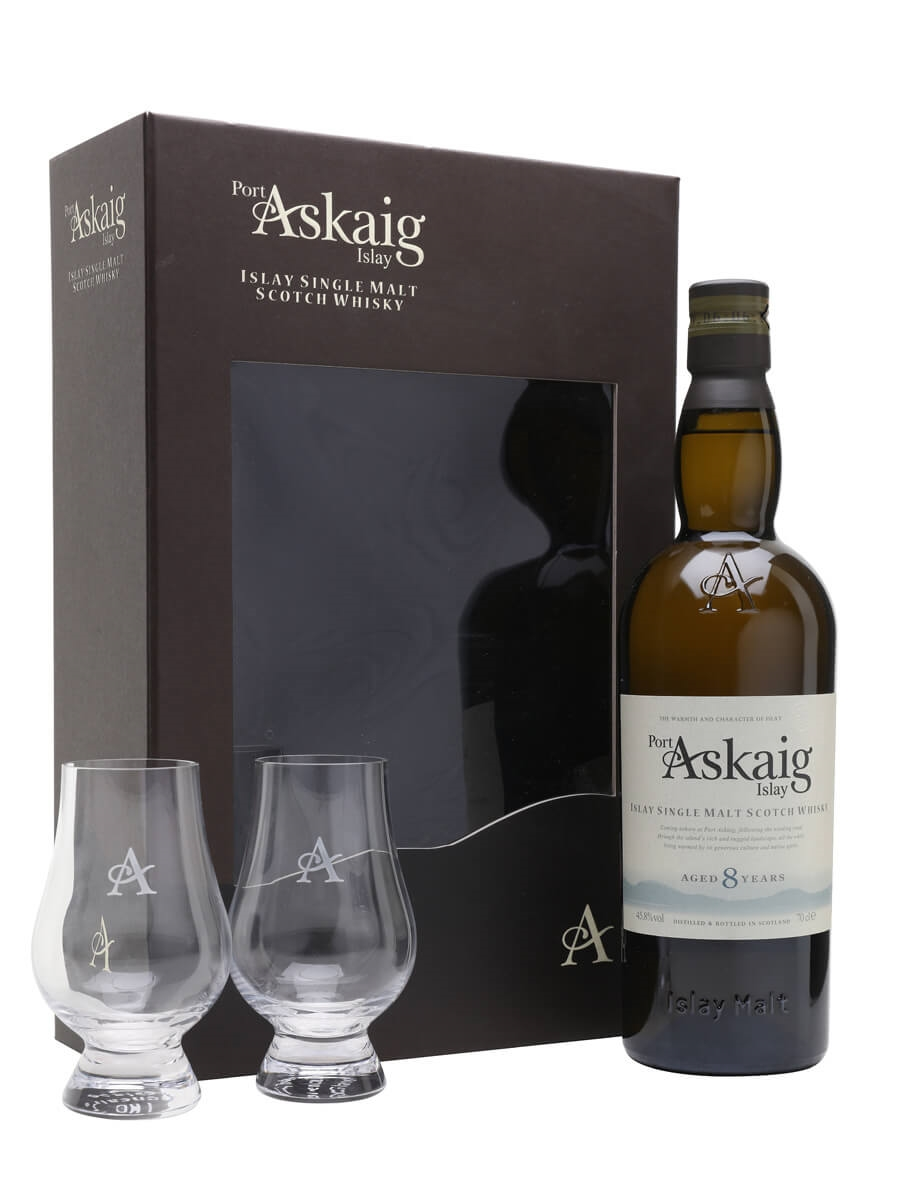 Port Askaig 8 Year Old Glass Set