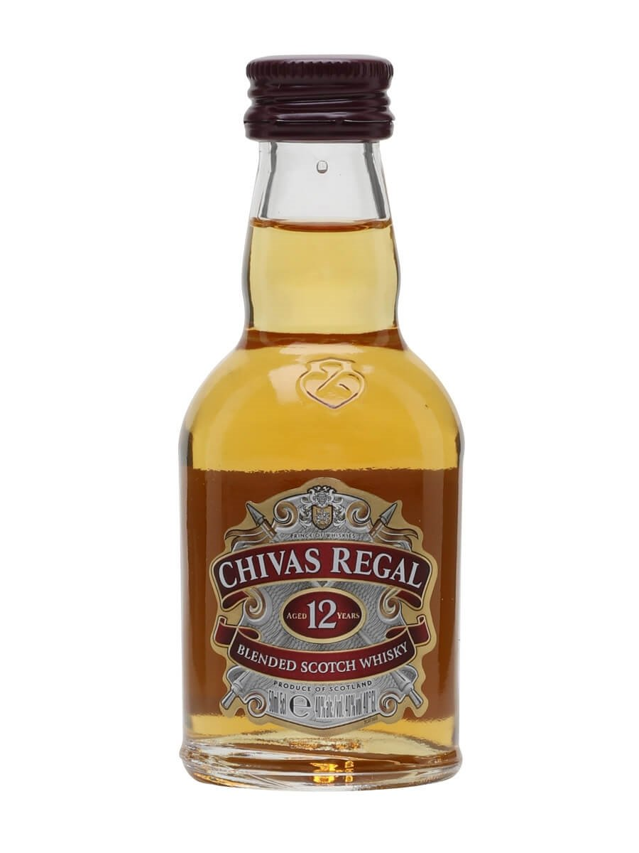 chivas regal 12 year old miniature the whisky exchange. Black Bedroom Furniture Sets. Home Design Ideas