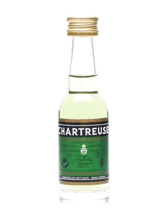 Chartreuse Green Liqueur Miniature