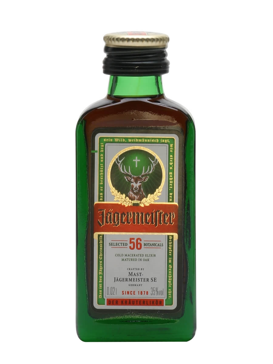Jagermeister Liqueur Miniature - Tiny Bottle : The Whisky Exchange