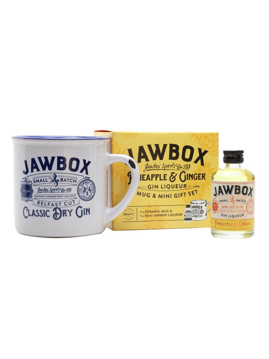 Jawbox Pineapple and Ginger Gin Liqueur Miniature / Mug Set