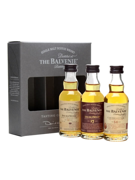 Balvenie / Doublewood 12 & 17 Year Old, Caribbean 14 Year Old 3x5cl