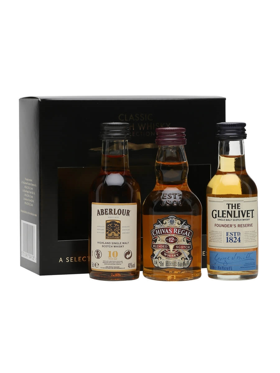 classic scotch whisky collection 3 x 5cl miniatures the whisky exchange. Black Bedroom Furniture Sets. Home Design Ideas