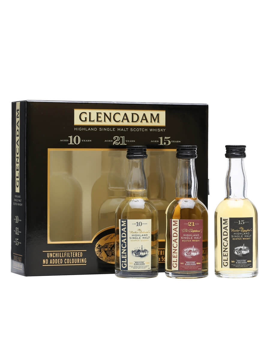 Glencadam Miniature Gift Pack / 10, 15 and 21 Year Old