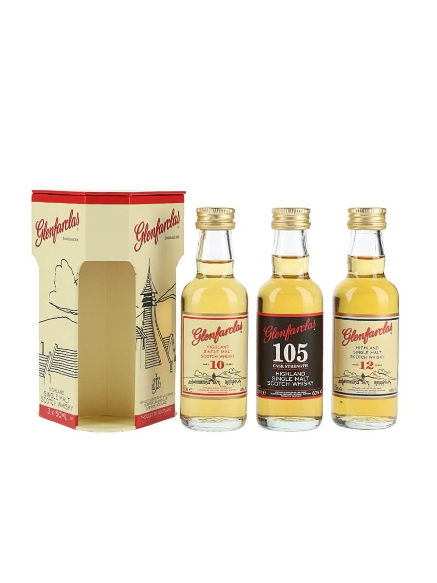 Glenfarclas miniature gift pack 10 12 year old 105 the glenfarclas miniature gift pack 10 12 year old 105 negle Images