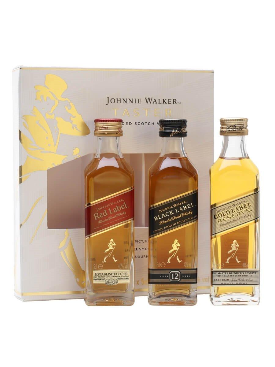 Johnnie Walker Taster Pack (Red/Black/Gold)