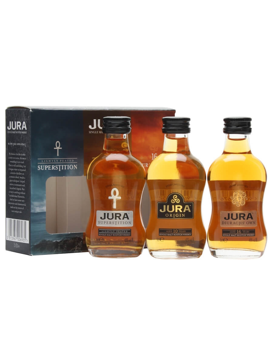 isle of jura miniature collection 3 pack the whisky exchange. Black Bedroom Furniture Sets. Home Design Ideas