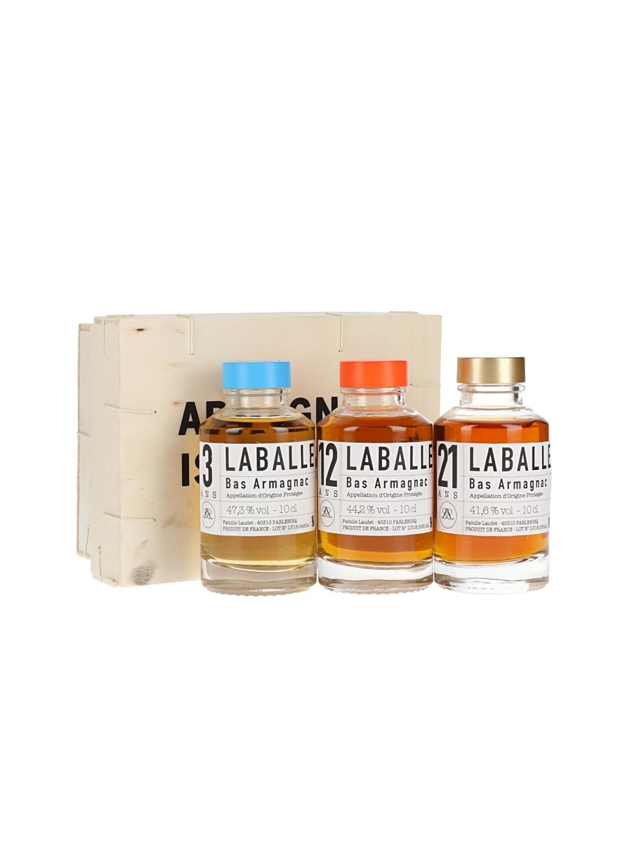 Laballe Armagnac is Back Set / 3, 12, 21 Year Old / 3x10cl