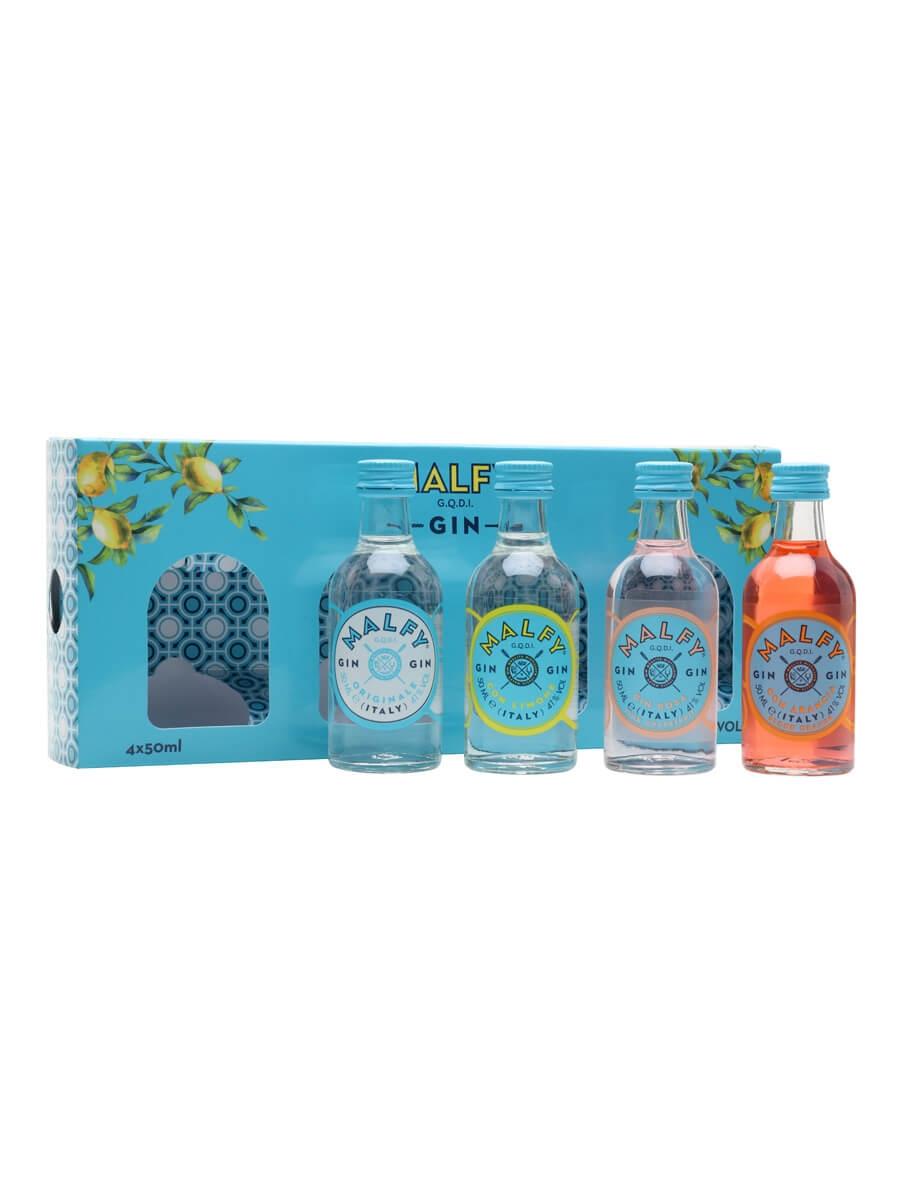 Malfy Gin Miniature Gift Set / Original, Lemon, Orange, Rose