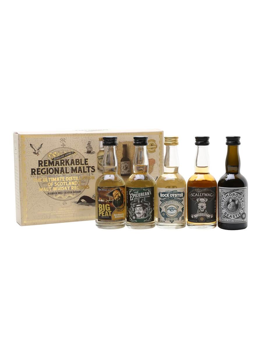 Douglas Laing Remarkable Regional Malts Mini Pack / 5x5cl